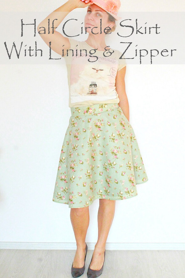 Tutorial: Lined half circle skirt