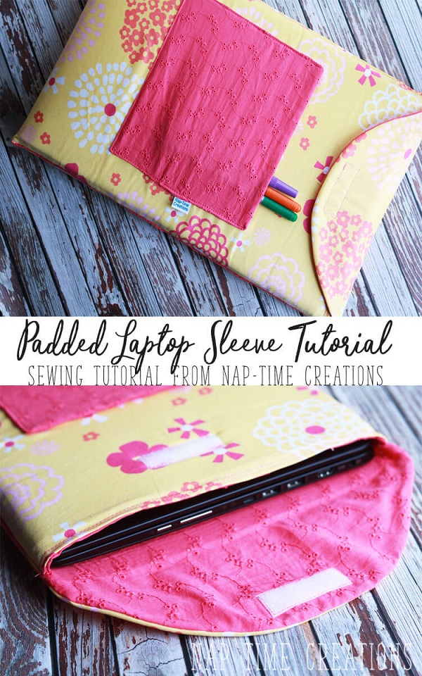Tutorial: Sew a padded laptop sleeve