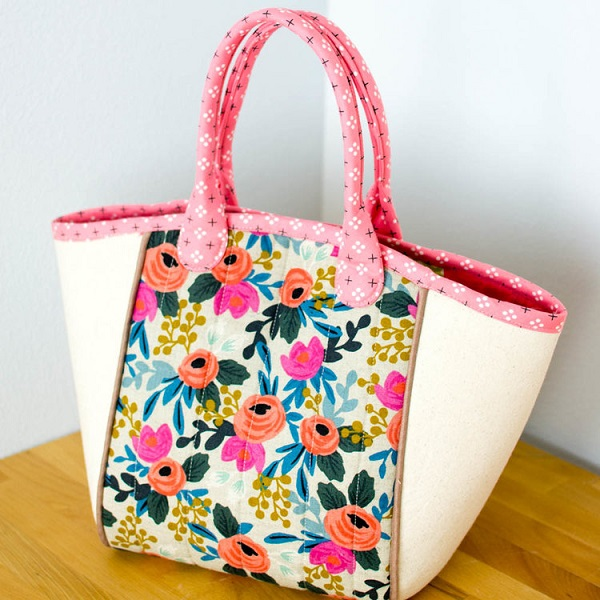 Tutorial and pattern: Basket tote bag