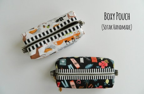 Tutorial: Boxy zip pouch