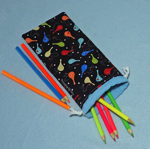 Tutorial: Drawstring pencil case, no zipper needed – Sewing