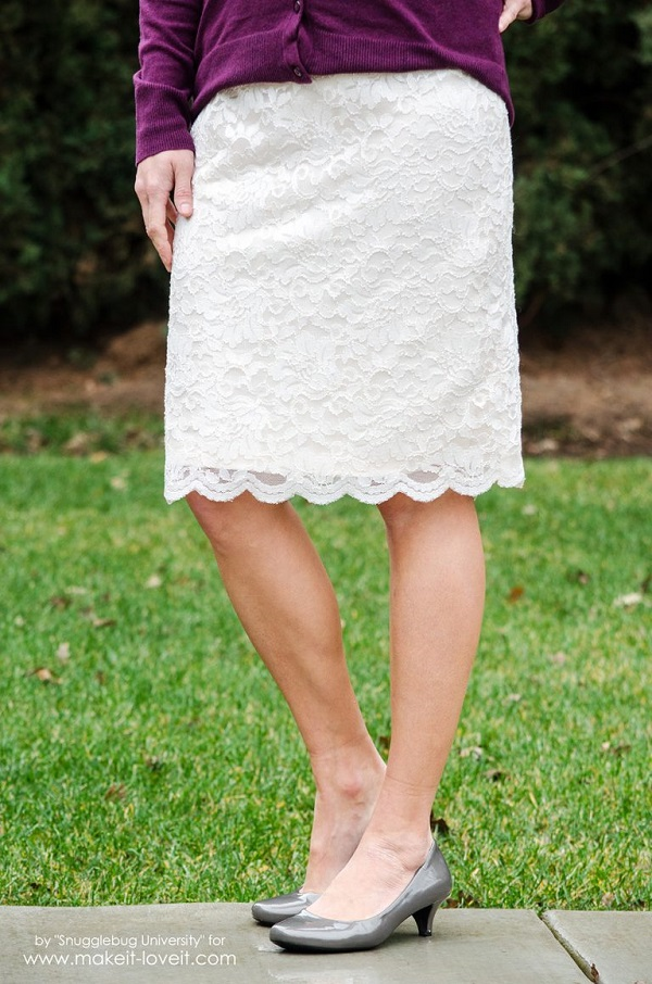 Tutorial: Lace pencil skirt