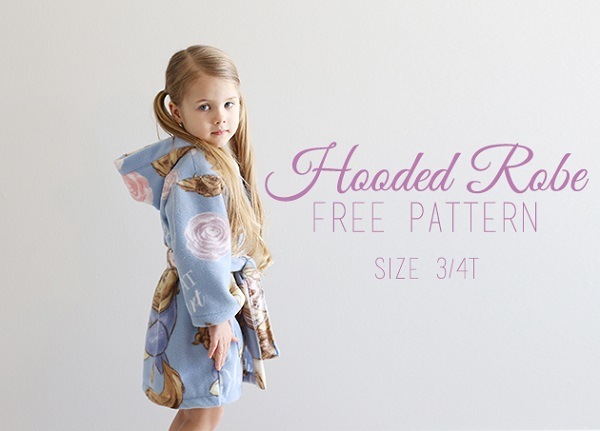 Tutorial and pattern: Toddler's hooded robe