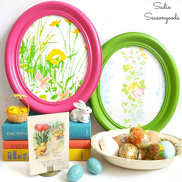 Tutorial: Vintage sheet Easter egg frames