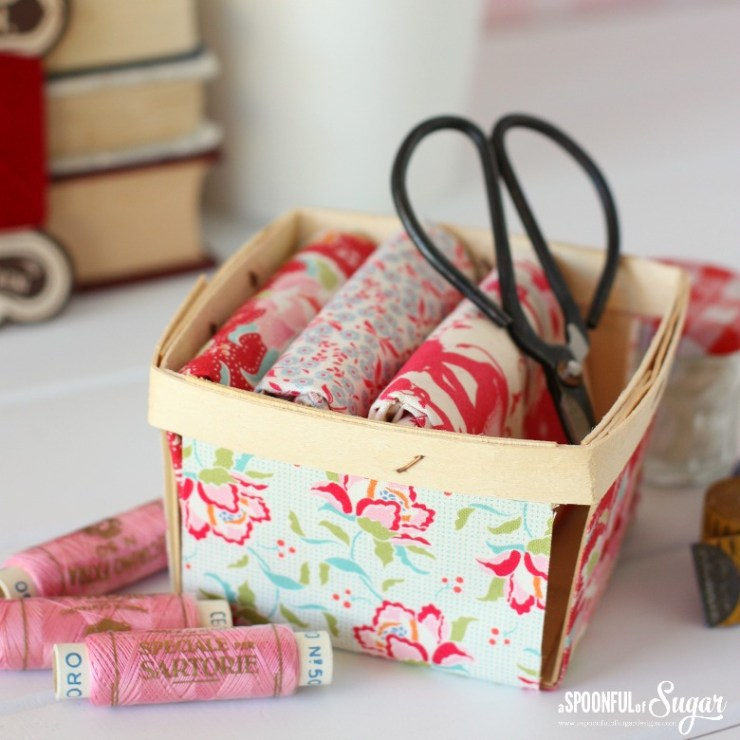 Tutorial: Vintage inspired fabric covered berry box