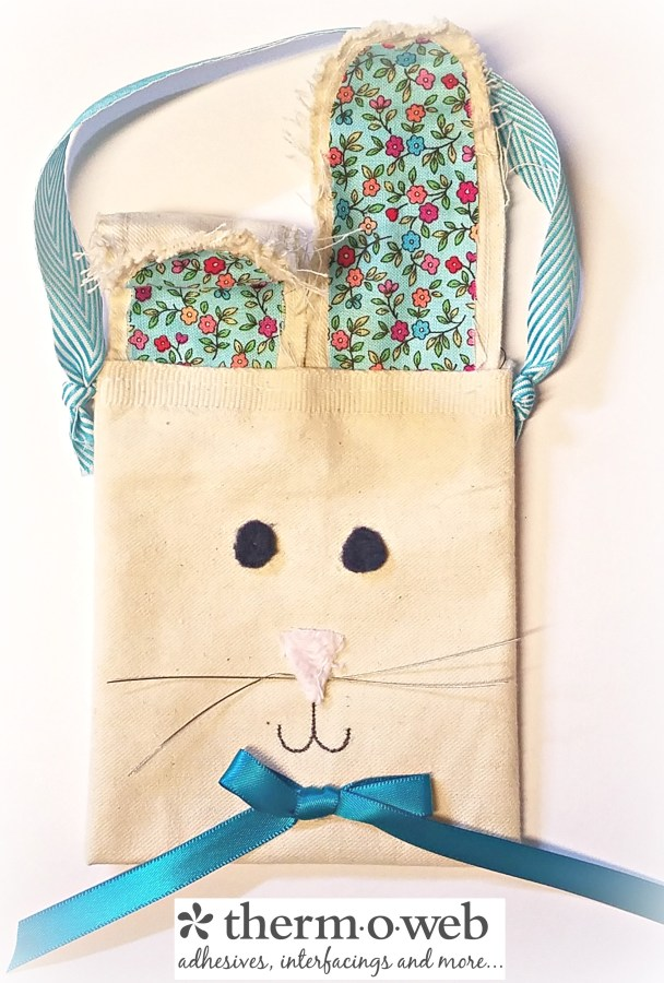 Tutorial: Canvas bunny ear gift bag