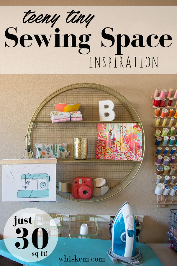 Inspiration for a small but functional sewing space
