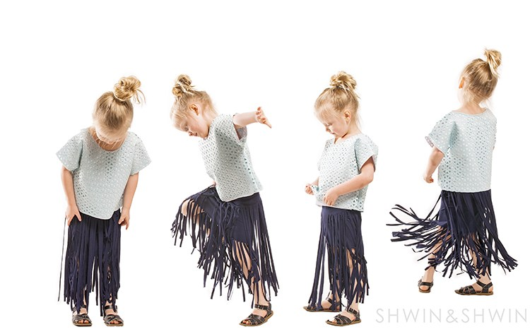 Tutorial: Long fringe knit skirt