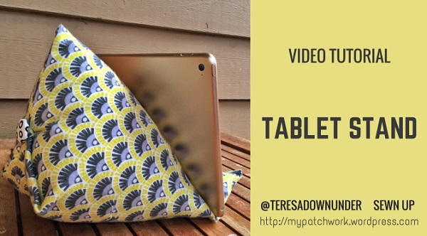 Video tutorial: How to sew a tablet stand