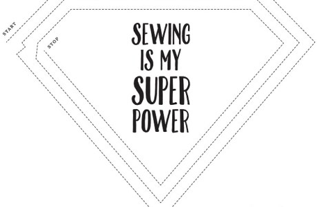 Printable: Sewing practice sheets
