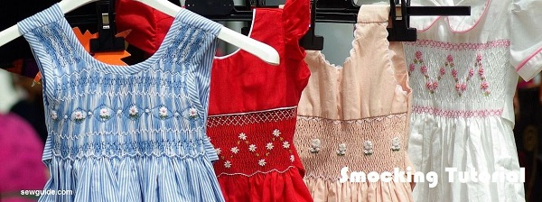 Tutorial: How to smock fabric for little girls dresses
