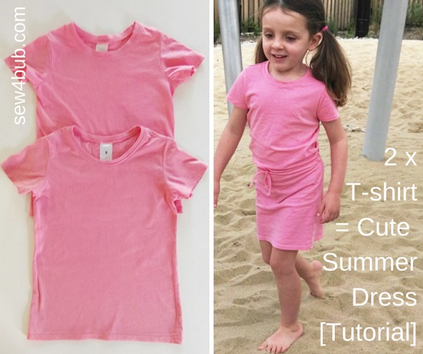 Tutorial: Cute summer dress from 2 t-shirts