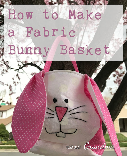 Tutorial and pattern: Bunny basket bag