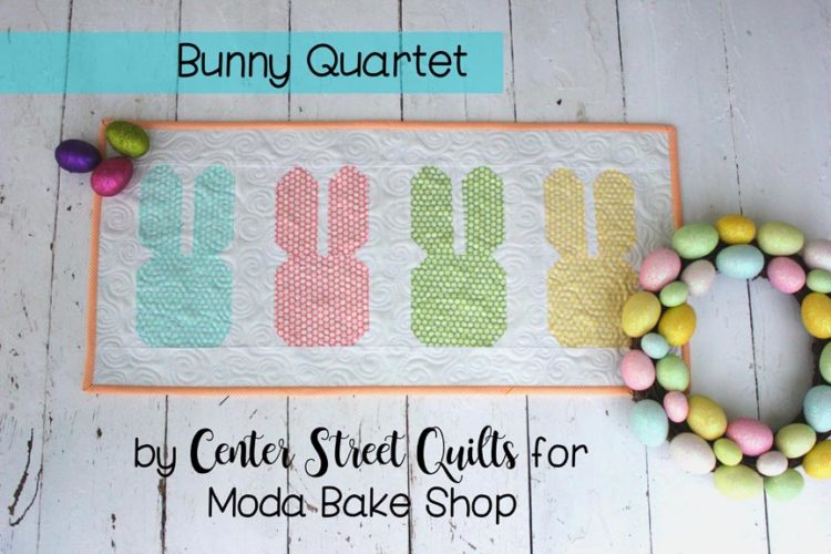 Tutorial and pattern: Bunny Quartet Mini Quilt