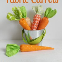 Sewing Pattern : Easy fabric carrots