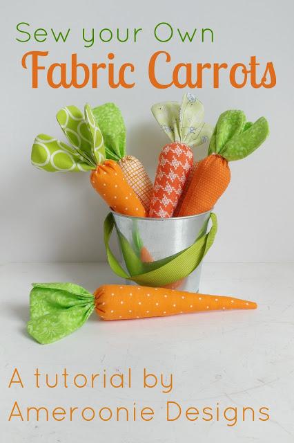 Tutorial: Easy fabric carrots