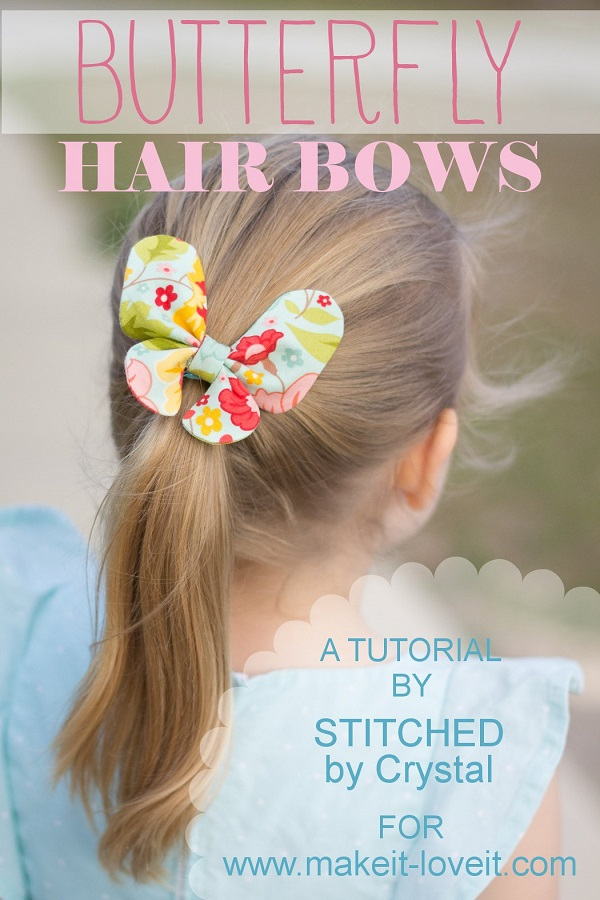 Tutorial: Fabric butterfly hair bow
