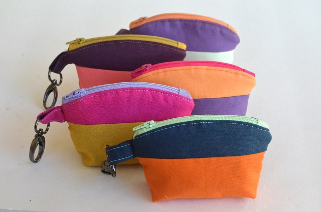 Tutorial and pattern: Color block zip pouch wallet
