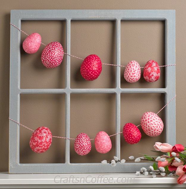 Tutorial: Fabric decoupage Easter egg garland