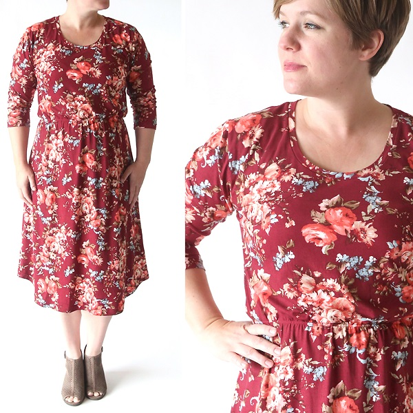 Tutorial and pattern: Midi dress for spring