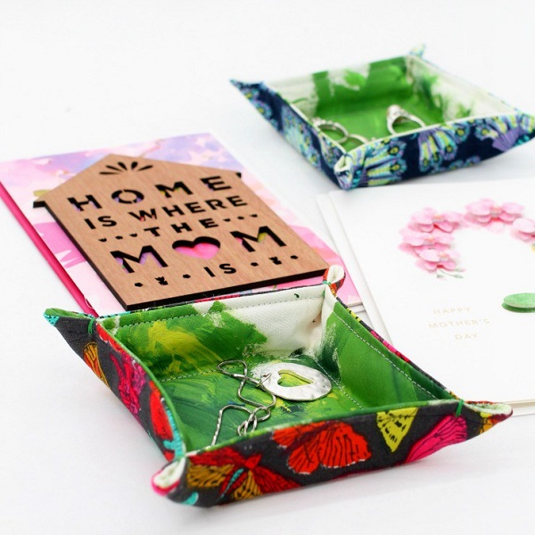 Tutorial Little fabric trays