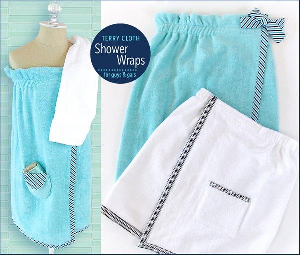 Tutorial: Terry cloth shower wrap