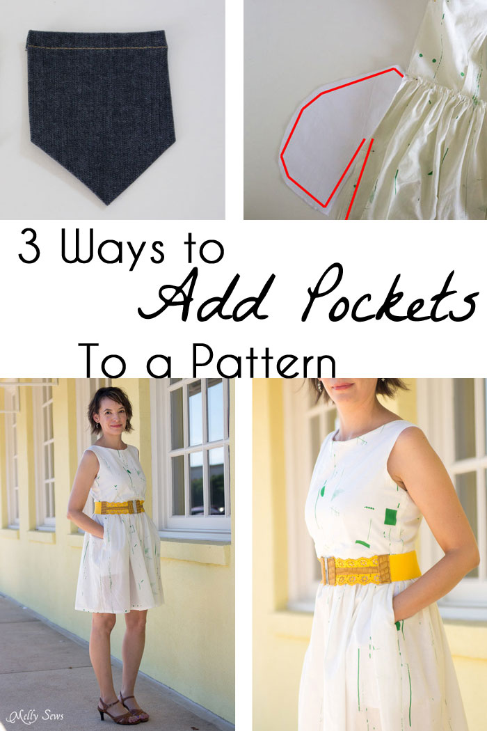 Tutorial: 3 ways to add pockets to a sewing pattern