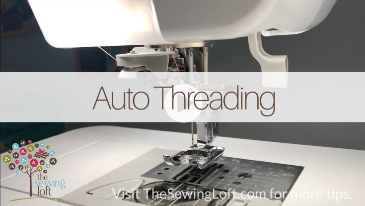 Tutorial: How to use the automatic needle threader on your sewing machine