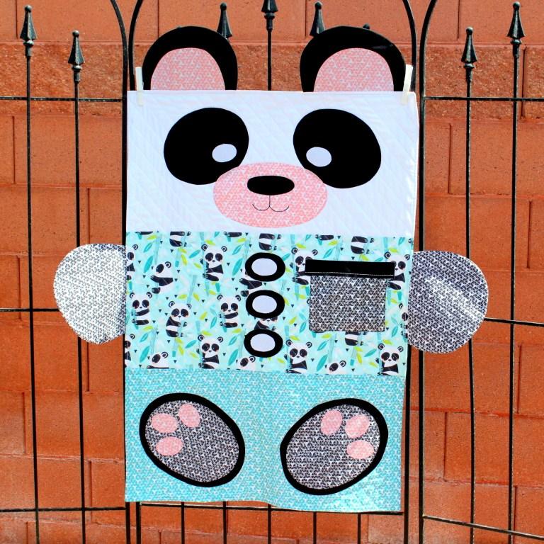 Tutorial and pattern: Panda-monium toddler quilt