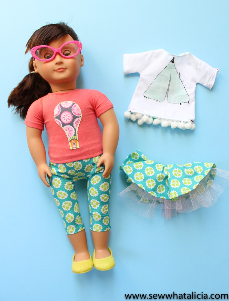 Tutorial and pattern: Doll t-shirt and pants