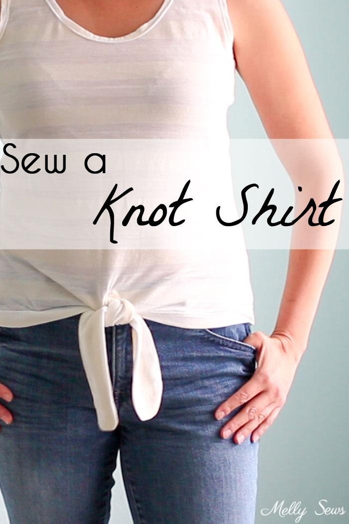 Tutorial: Sew a knot waist t-shirt