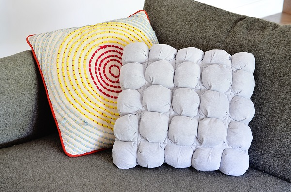 Tutorial: Puff quilted pillow cover