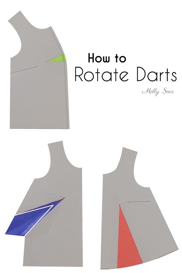 Tutorial: Rotate sewing pattern darts