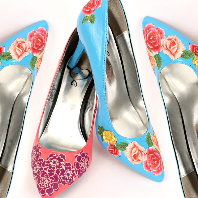 Tutorial: Revamp your shoes with paint and decoupage