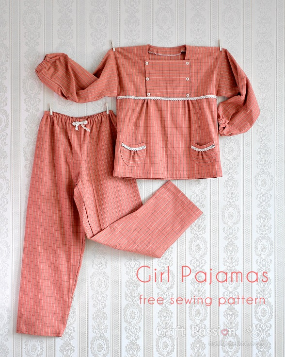Tutorial And Pattern Girls Pajamas With Button Flap