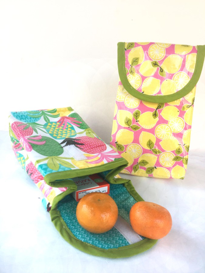 Tutorial: Sew a vinyl coated lunch bag