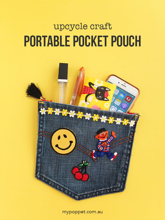 Tutorial: Jeans pocket zip pouch
