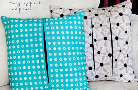 Tutorial: Box pleat throw pillows
