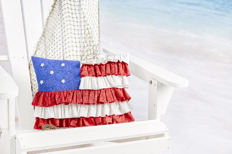 Tutorial: American flag ruffle pillow