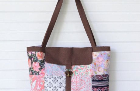Tutorial: Charm square satchel tote with swivel hook closure