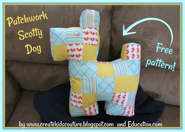 Tutorial: Scrapbusting Scottie dog softie