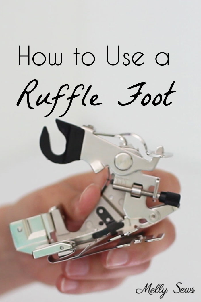 Tutorial: Make easy gathers with a ruffle foot