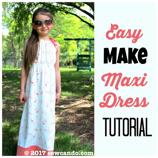 Tutorial: Shoulder tie maxi dress