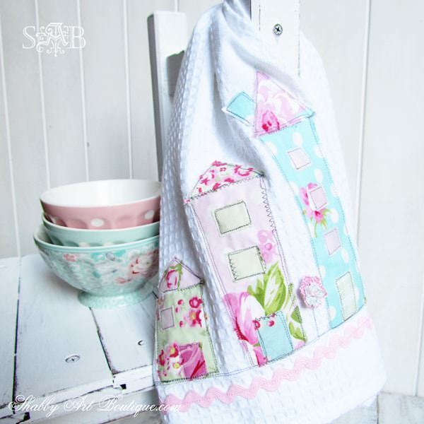 Tutorial: Shabby chic house tea towel