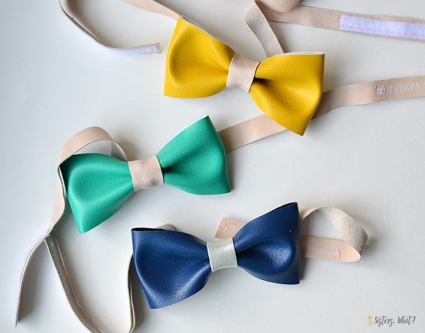 Tutorial: Faux leather bow tie