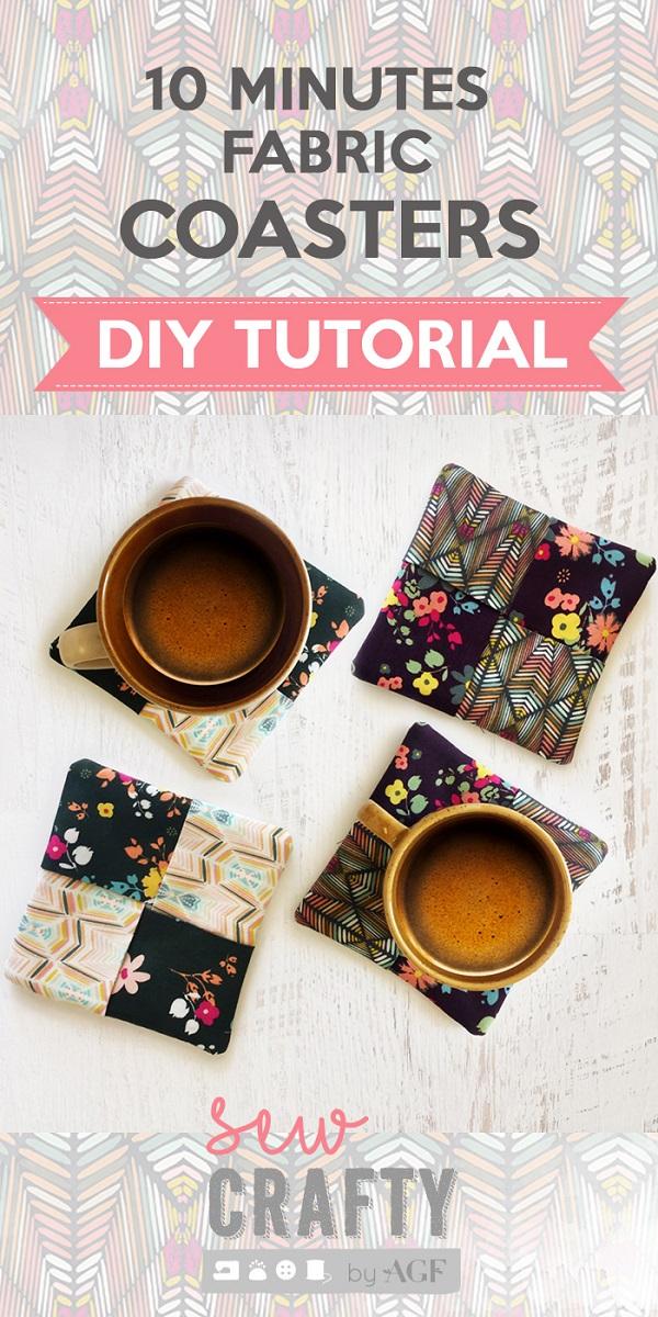Video tutorial: 10 minute fabric coasters