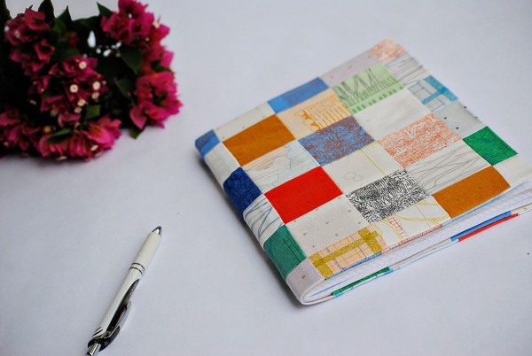 Tutorial: Patchwork composition book cover