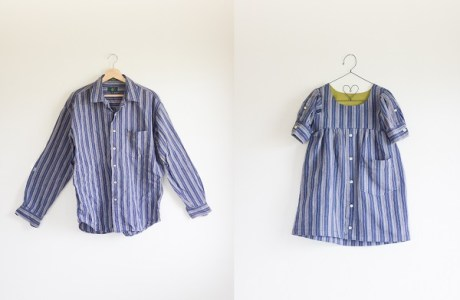 Tutorial: Men's shirt made into a little girl's dress