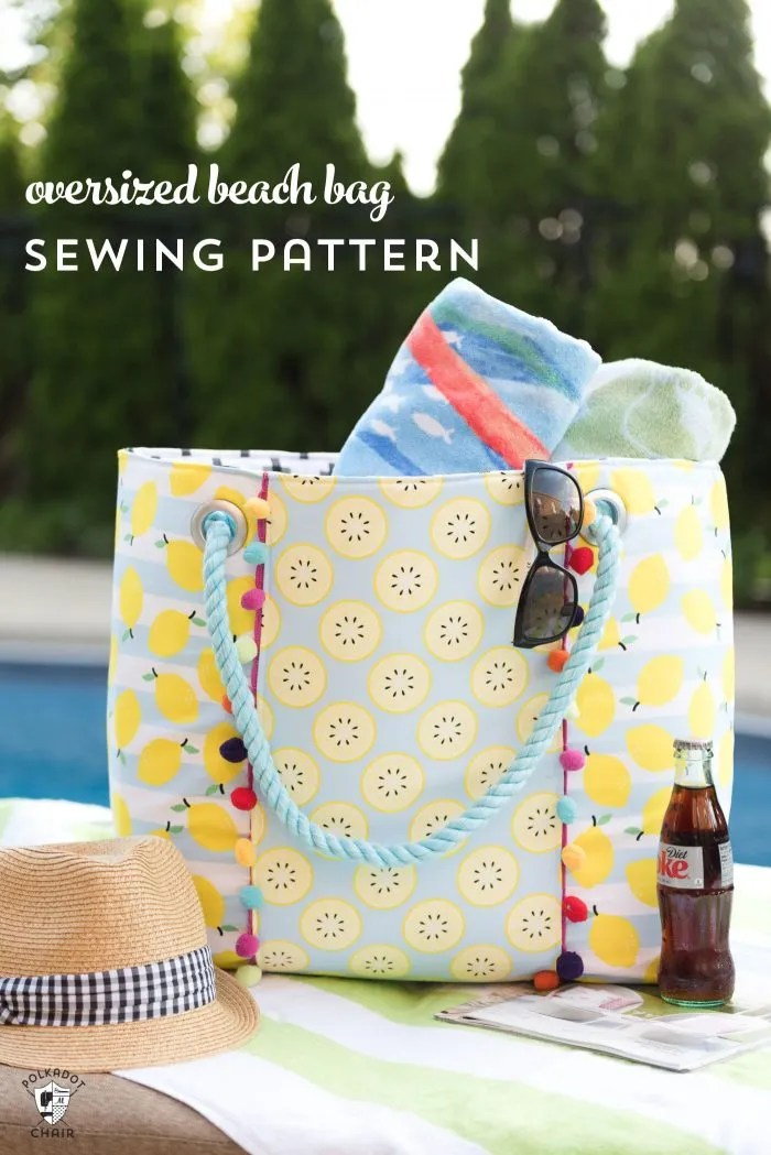 Tutorial and pattern: Oversized beach tote