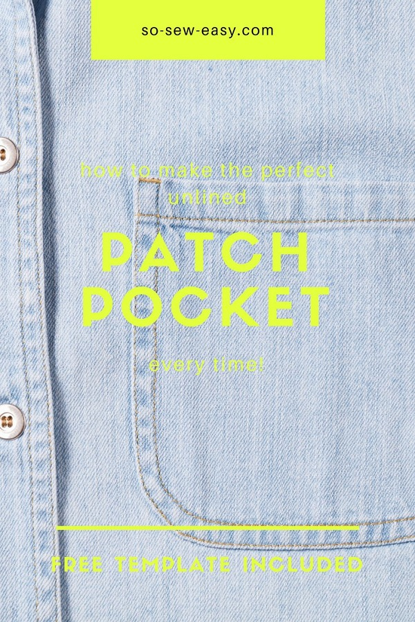 Tutorial: Sew a perfect patch pocket